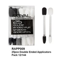 Royal 25 Double Ended Eye Shadow Applicators (12 UNITS)