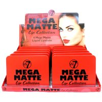 W7 Mega Matte Lip Collection 4 Matte Lipsticks Bulk (384 UNITS)
