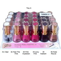 Saffron Fantasy Pinks Nail Polish Tray 6 13ml (24 units)