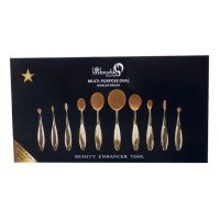 London Pride Multi-Purpose Oval 10pc Makeup Brush Set (EACH)