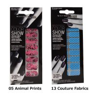 Maybelline Color Show Fashion Prints Nail Stickers (3 UNITS)