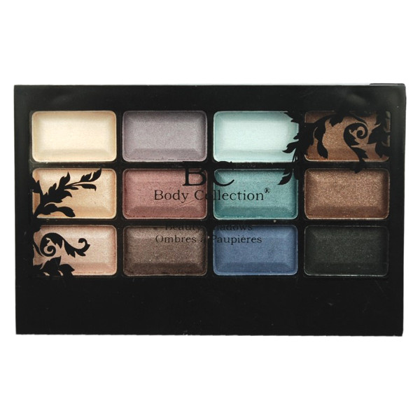 Body Collection 12pc Eyeshadow Compact 12x0.7g (12 UNITS) - Click Image to Close