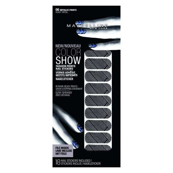 Maybelline Color Show Fashion Print Nail Stickers (3 UNITS) - Click Image to Close