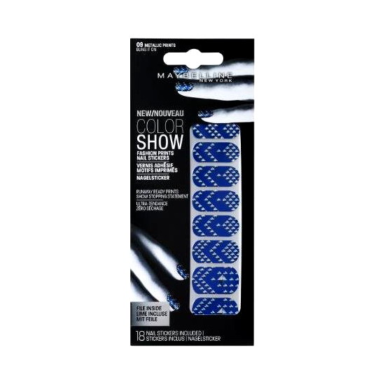 Maybelline Color Show Fashion Print Nail Stickers BULK (144 UNIT - Click Image to Close