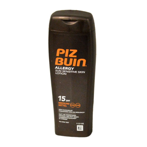 Piz Buin Allergy Sun Sensitive Skin Lotion SPF 15 200ml (6 UNITS - Click Image to Close