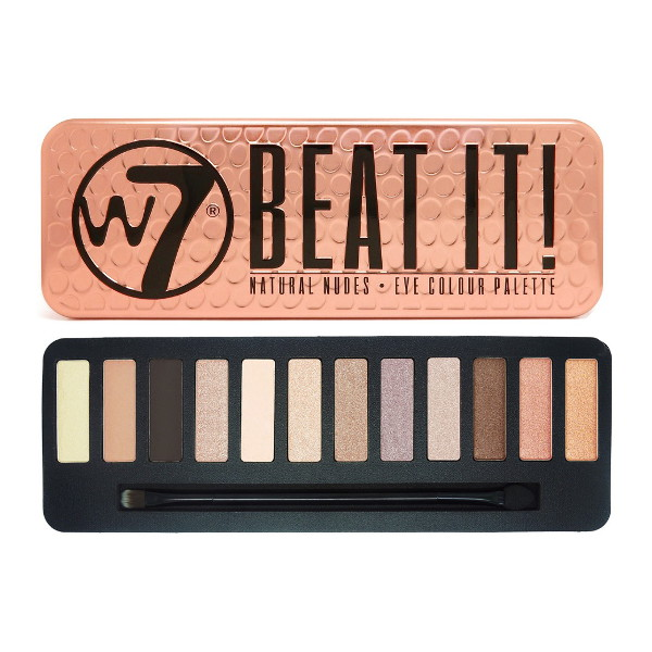 W7 Beat It! 12pc Natural Nudes Eye Colour Palette 15.6g (6 UNITS - Click Image to Close