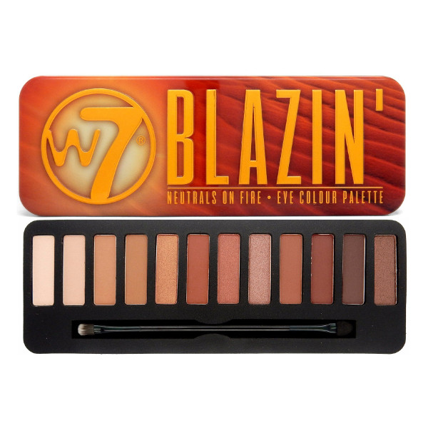 W7 Blazin' 12pc Eye Colour Palette 15.6g (6 UNITS) - Click Image to Close