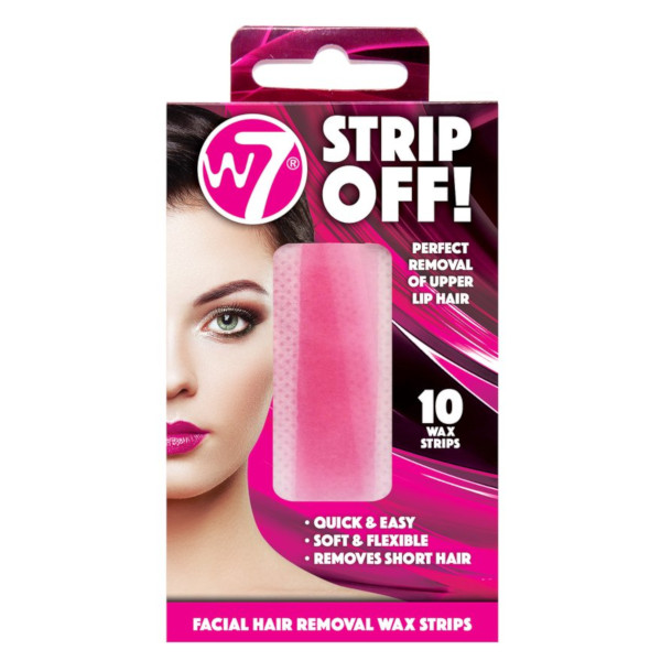 W7 Strip Off! Facial Hair Removal Wax Strips (12 UNITS) - Click Image to Close